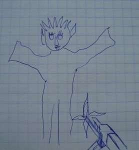 "Рисунок ребёнка к фильму ""Аватар"""